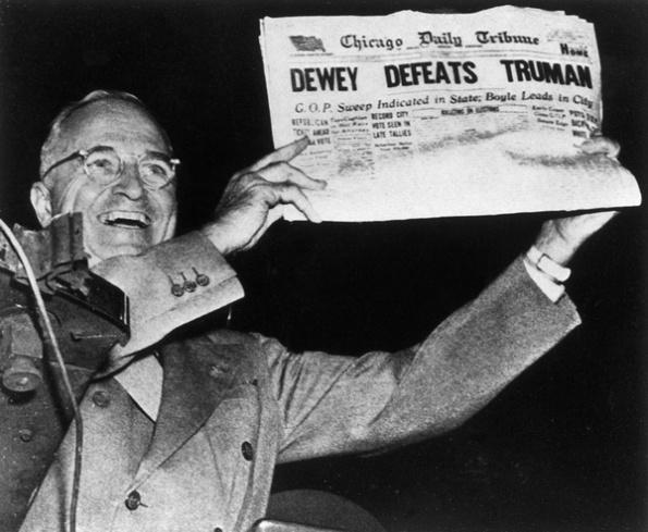 LL140807 - Journalist Dewey Defeats Truman