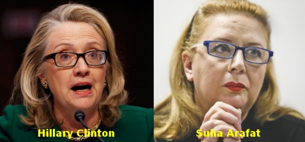 OF141114 - Hillary Clinton-Suha Arafat