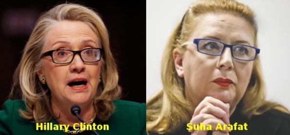 OF141114 - Hillary Clinton-Suha Arafat