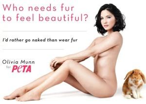 Olivia Munn Fur