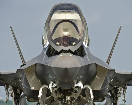 f-35 preps for takeoff